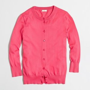 J.Crew Factory Clare Cardigan Sweater NWT XS PINK